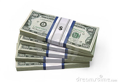 $100 cuentas - empiladas