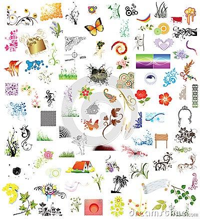100 de elementen van het ontwerp