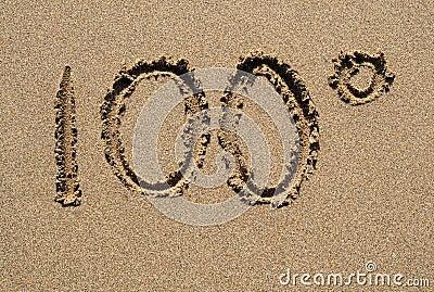 100 degrees.