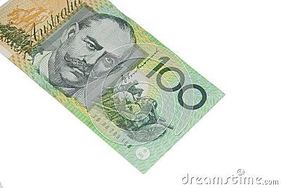100 Dollar Australian banknote