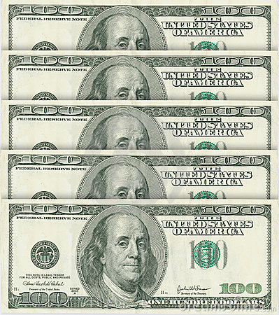 Free 100 Dollar Banknotes Stock Photography - 1811212