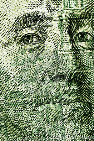 100 Dollar bill closeup