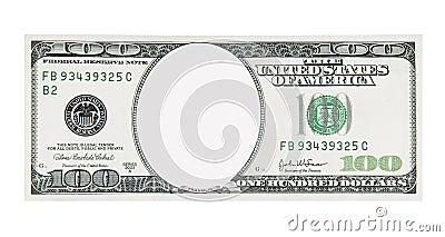 100 Dollar Bill Front No Face
