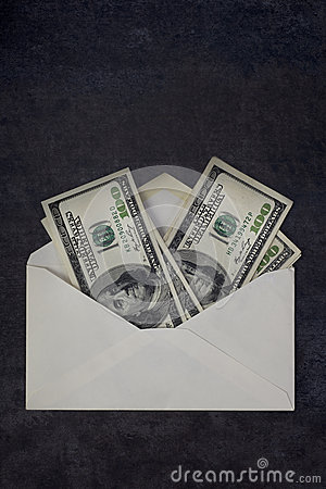 100 Dollar Bills in Envelope