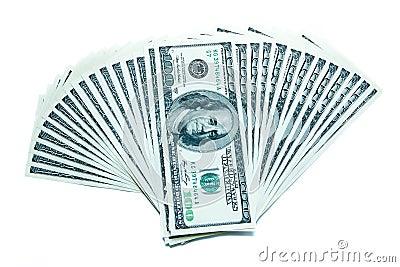 100 dollar bills fan stack