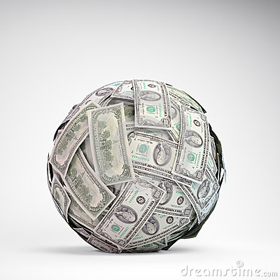 100 dollar bills sphere