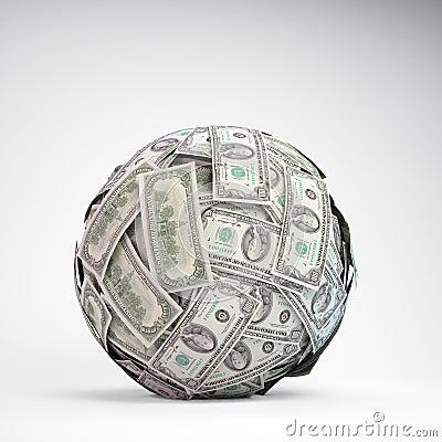 100 dollar bills sphere