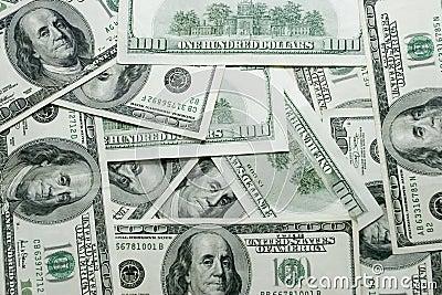 A 100 dollars bills texture