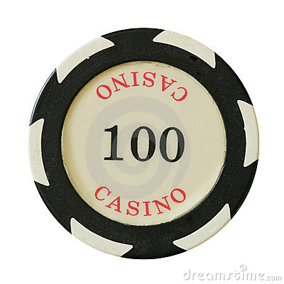 100 dollars casino chip