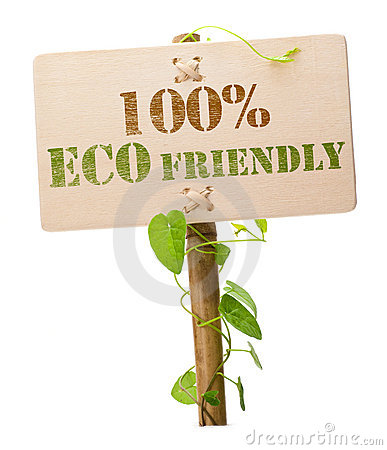 100  eco friendly green sign