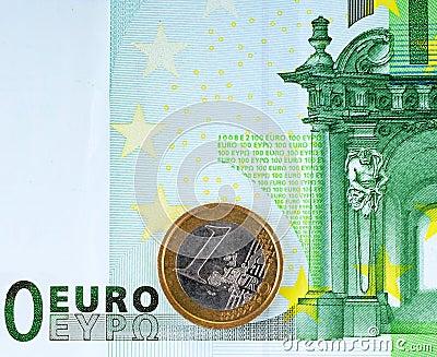100 euro and  1 euro