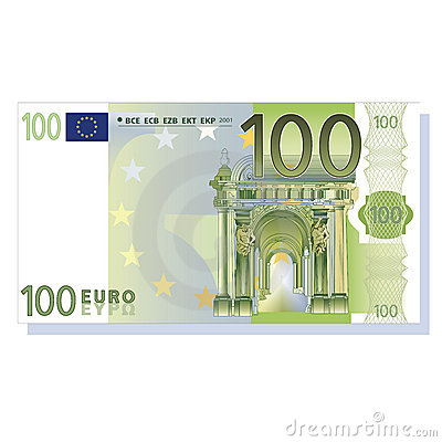Free 100 Euro Banknote Vector Royalty Free Stock Photo - 9847515