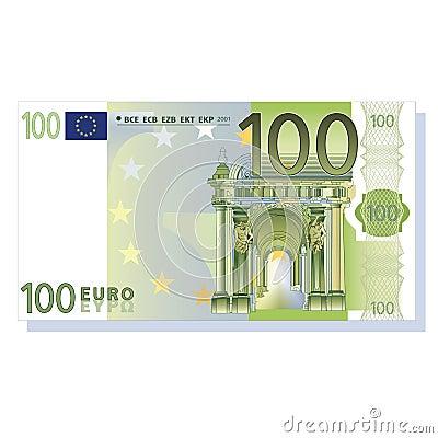 100 euro banknote vector