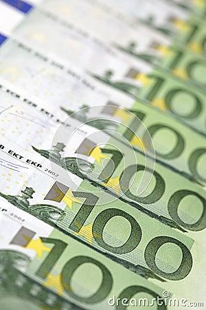 100-Euro bills