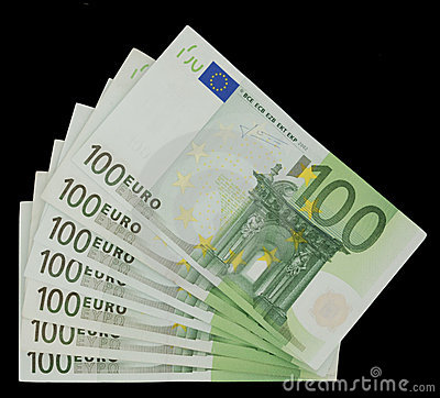 100 Euro Bills - Money
