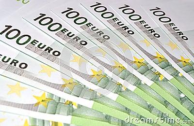100 Euro money banknotes