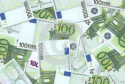 100 Euro Notes Texture