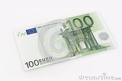 100 euro rechnung lizenzfreies stockbild bild 4115006. Black Bedroom Furniture Sets. Home Design Ideas