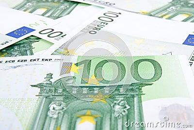100 euros background