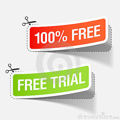 100  free and free trial labels