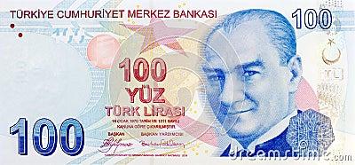 100 Lira banknote front