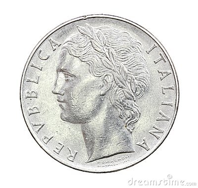 100 Lire Coin of Italy of 1975