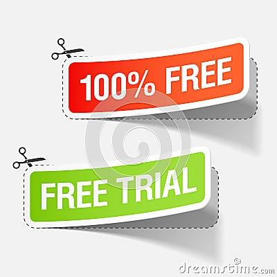 100  livre e etiquetas da experimentação livre