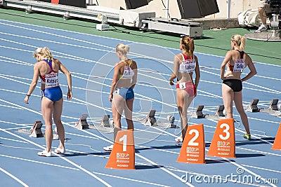 100 meters women Editorial Image