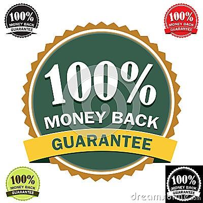 Free 100 Money Back Guarantee Icon Royalty Free Stock Photo - 7721685