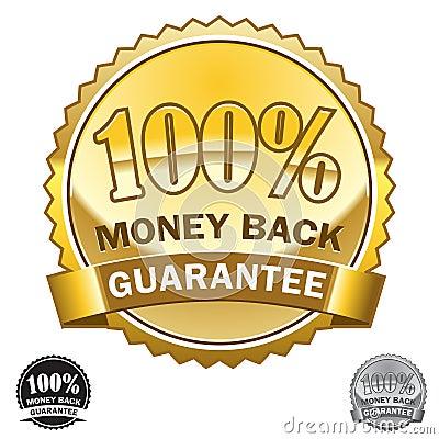 Free 100 Money Back Guarantee Icon Royalty Free Stock Photos - 7721858