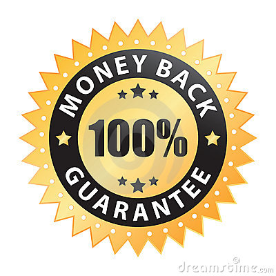 100  money back guarantee label (vector)