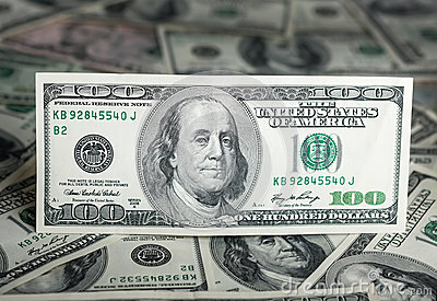 $100 - money background.