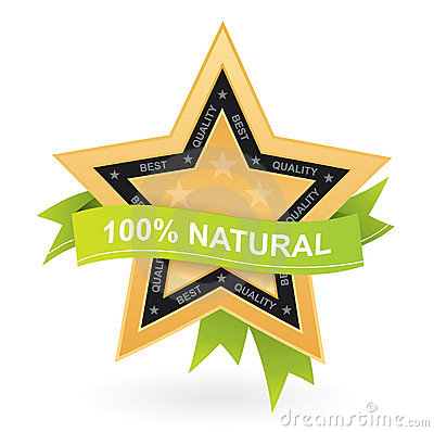 100  natural promotional sign - gold star w