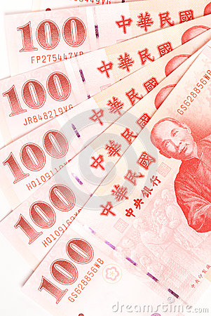 100 New Taiwan Dollar bill.