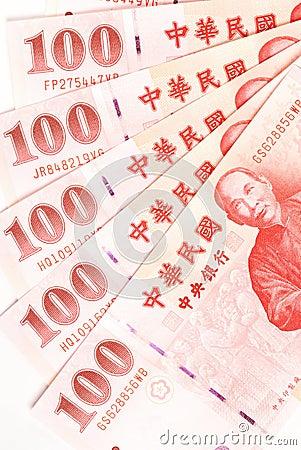 100 New Taiwan Dollar bill.