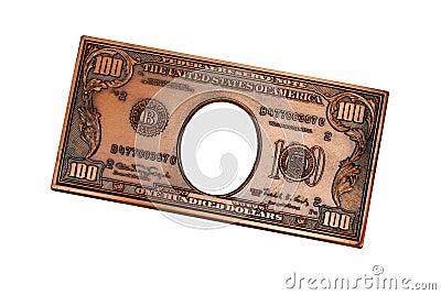 100 nosotros billete de banco