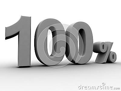 100 per cento