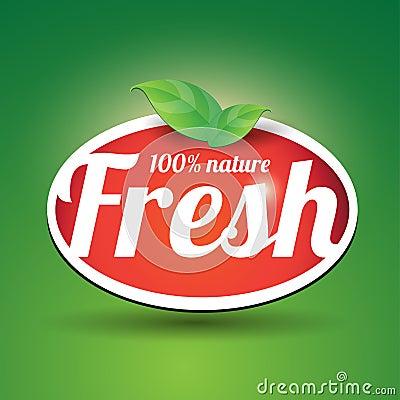 100 percent fresh