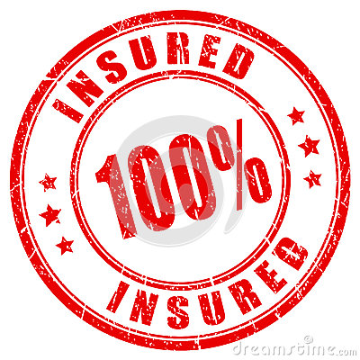 Free 100 Percent Fully Insured Stamp Stock Image - 88980691