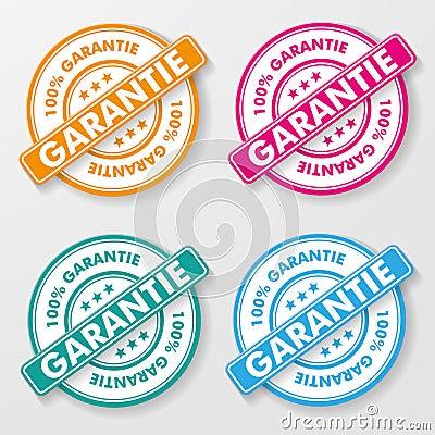 Free 100 Percent Guarantee Paper Labels Royalty Free Stock Photos - 30647638