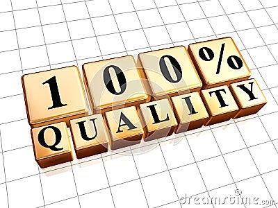 100 percent quality
