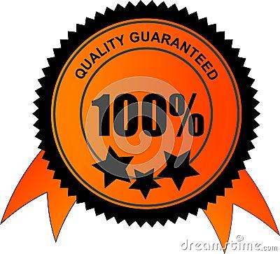 100 percent quality guaranteed