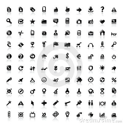 Free 100 Perfect Icons Stock Image - 16965601