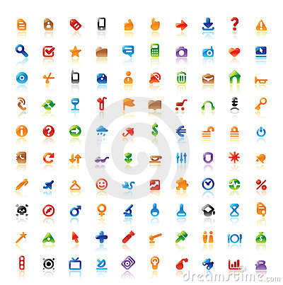 Free 100 Perfect Icons Royalty Free Stock Photos - 21602918