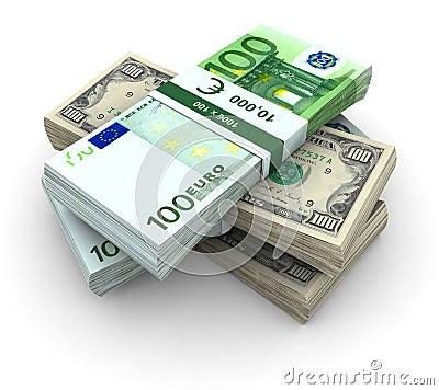 100 plik banknotów