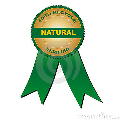 100  recycle natural verified (vector)