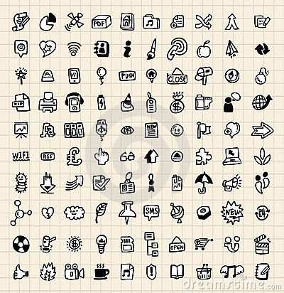 100 remisu ręki ikony sieć