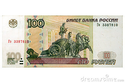 100 russian roubles