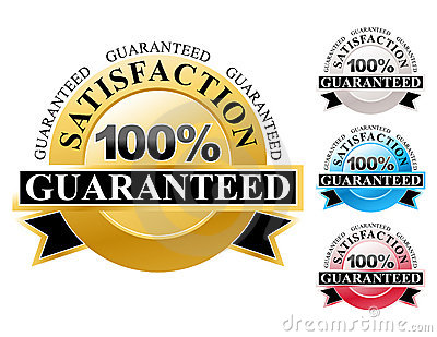 100  Satisfaction Guaranteed Icons Set