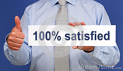 100  satisfied sign